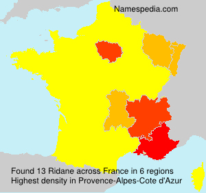 Surname Ridane in France