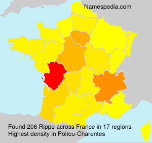 Surname Rippe in France