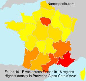 Familiennamen Rivas - France