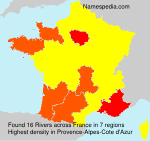 Surname Rivers in France