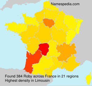 Surname Roby in France