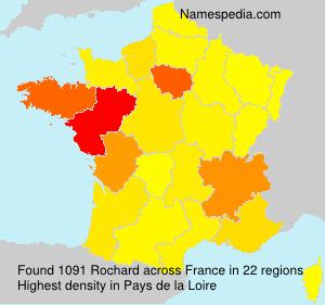 Surname Rochard in France
