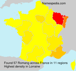Surname Romang in France