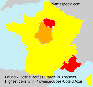 Familiennamen Rosnel - France