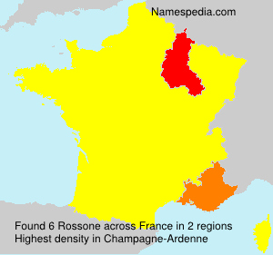 Surname Rossone in France