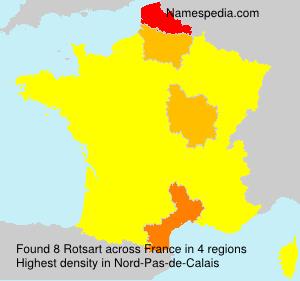 Surname Rotsart in France