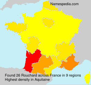 Surname Rouchard in France