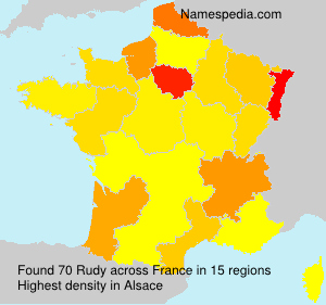 Surname Rudy in France