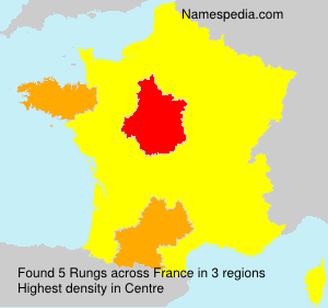 Surname Rungs in France