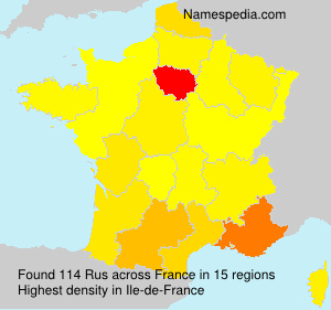 Surname Rus in France