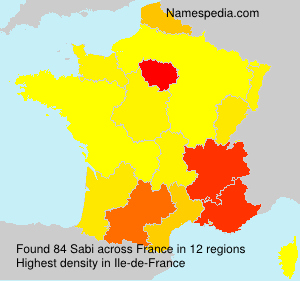 Surname Sabi in France
