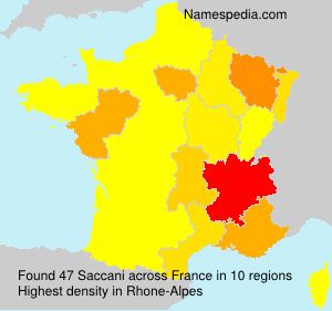 Surname Saccani in France