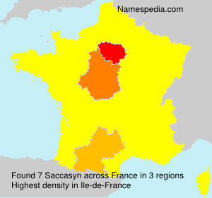 Surname Saccasyn in France