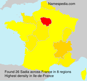 Surname Sadia in France