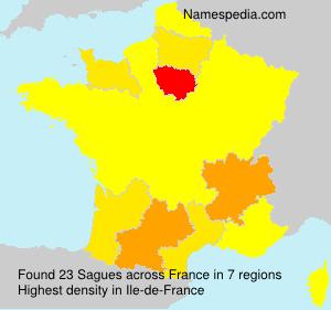 Surname Sagues in France