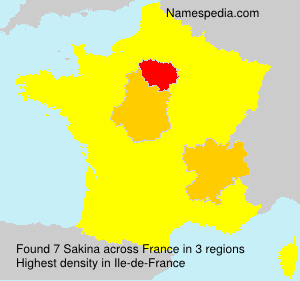 Surname Sakina in France