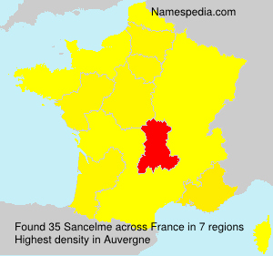 Surname Sancelme in France