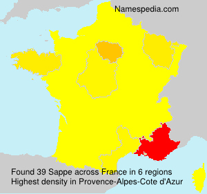 Surname Sappe in France