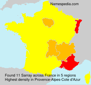 Surname Sarray in France