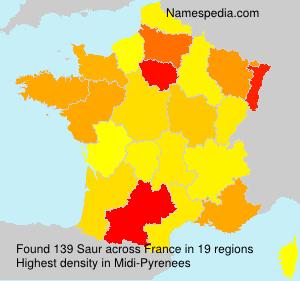 Surname Saur in France
