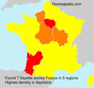 Surname Sayette in France
