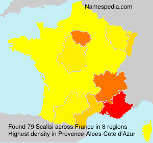 Surname Scalisi in France