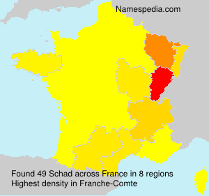 Surname Schad in France