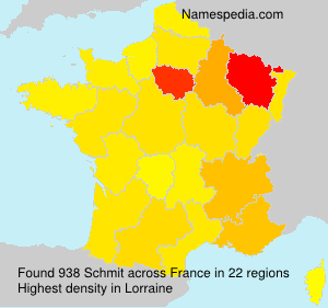 Surname Schmit in France