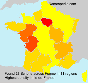 Surname Schone in France
