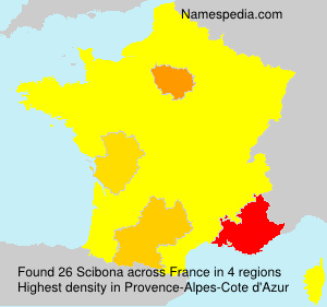 Surname Scibona in France