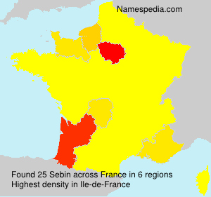 Surname Sebin in France