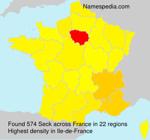 Surname Seck in France