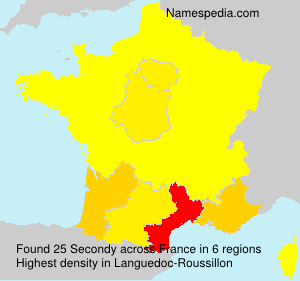 Surname Secondy in France