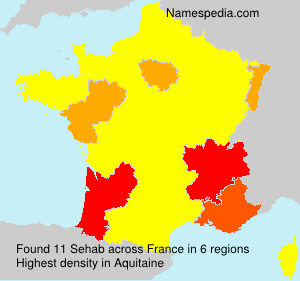 Surname Sehab in France