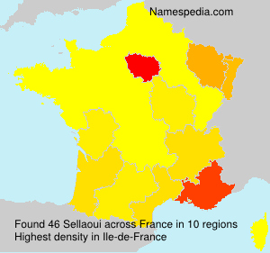 Surname Sellaoui in France
