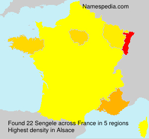 Surname Sengele in France