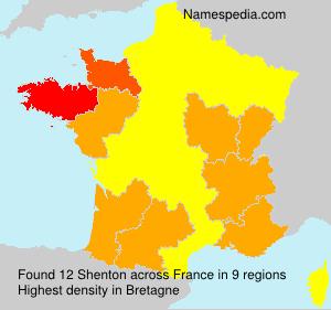 Surname Shenton in France