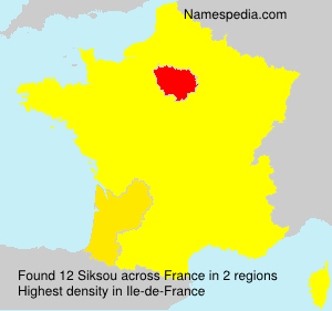 Surname Siksou in France