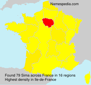 Surname Sima in France