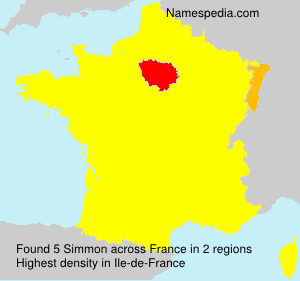 Surname Simmon in France