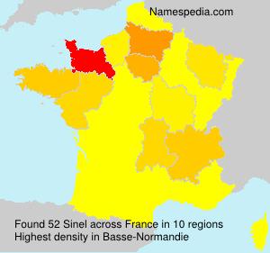 Surname Sinel in France