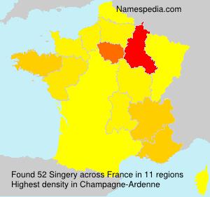 Surname Singery in France