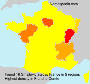 Surname Smajlovic in France