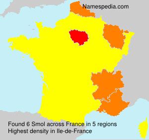 Surname Smol in France