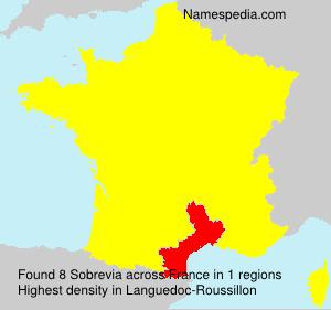 Surname Sobrevia in France