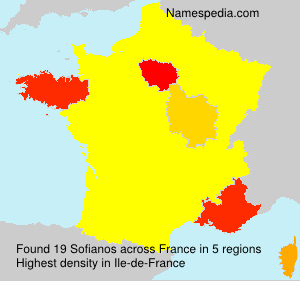 Surname Sofianos in France