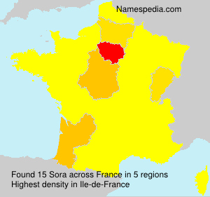 Surname Sora in France