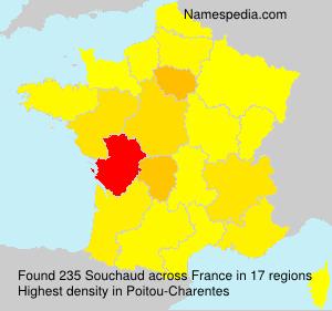 Familiennamen Souchaud - France