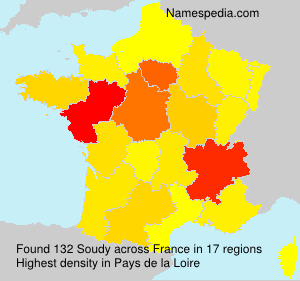Surname Soudy in France