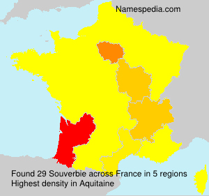 Surname Souverbie in France